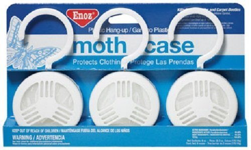 2-Pack of 3 Pieces, Enoz Moth Cake/Hangers (2) 3-Packs, Total 6 Moth Cakes Moth Cake
