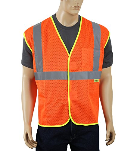 Illuminated Safety Vest - Safety Depot Mesh Safety Vest with Velcro and Pockets Hi Viz 2