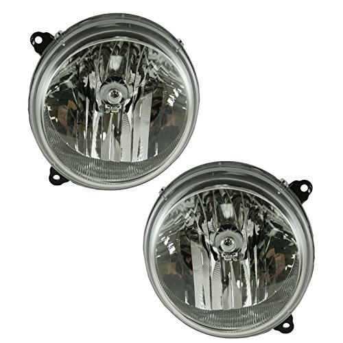 Headlights Headlamps Left & Right Pair Set for 05-07 Jeep Liberty