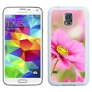 NEW Unique Custom Designed Samsung Galaxy S5 I9600 G900a G900v G900p G900t G900w Phone Case With Pink Dahlia Macro Flower_White Phone Case