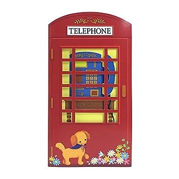 Amazon.com: clásico de cabina telefónica roja feliz ...
