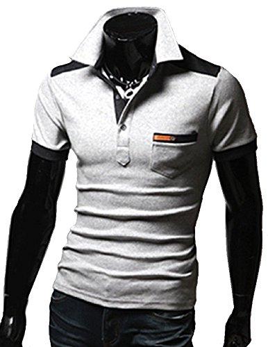 Heaven Days(ヘブンデイズ) ポロシャツ ゴルフシャツ バイカラー 半袖 メンズ 1706G0540