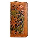 OLG.YAT Vegetable tanned leather Retro Genuine Leather Men's Wallets WLHKFG