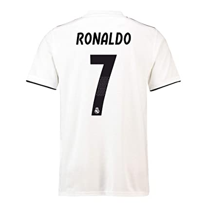 online retailer b38ff ae11d Amazon.com : 2018-19 Real Madrid Home Football Soccer T ...
