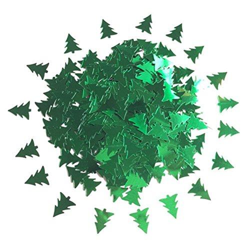 Tinksky Christmas Tree Shaped Merry Christmas Table Confetti Christmas Decoration (Green)