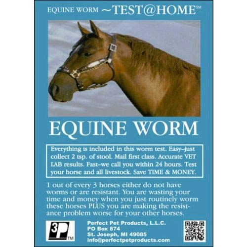 Perfect Pet Products Equine Worm Test detects Worms in Horses, Mules, Cattle, Chicken, Goats, Camels, etc. (Just Collect Sample and Mail to Our Vet Lab) by Perfect Pet Products