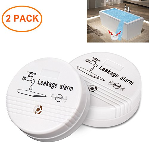 Sungwoo Water Detector Battery Operated Water Leak Alarm for Home Use (Two Piece)