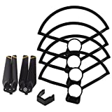 MagiDeal Set of 2 Pieces Golden Edge Propeller Prop & 4 Pieces Propeller Guard Protector for RC DJI Spark