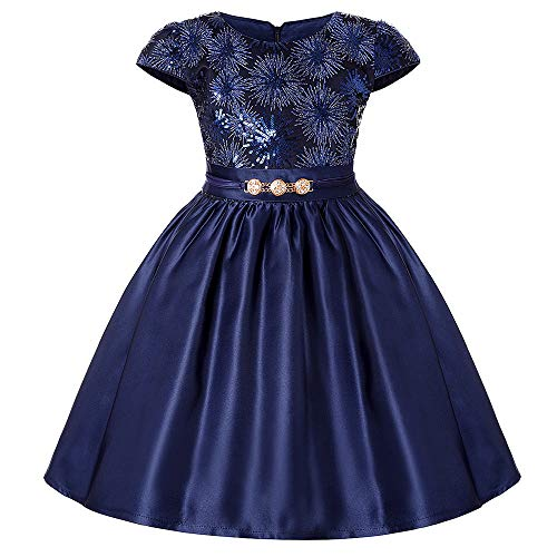 Costume Cosplay Princess Girls Dress Pettiskirt High-end Dress Skirt Shoulder Dress Skirt for Kids Halloween Birthday Dress Up Fancy Party (Size : 6T) -