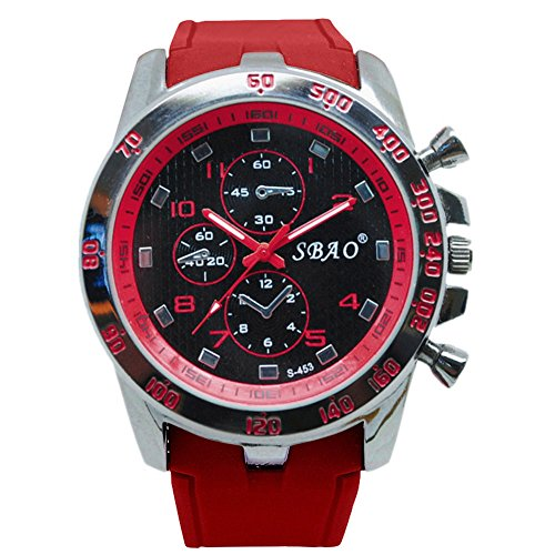 Mens Quartz Watch,Ulanda-EU Unique Unisex Military Analog Business Casual Fashion Wristwatch,Clearance Cheap Watches with Round Dial Alloy Case ws91 (Red)