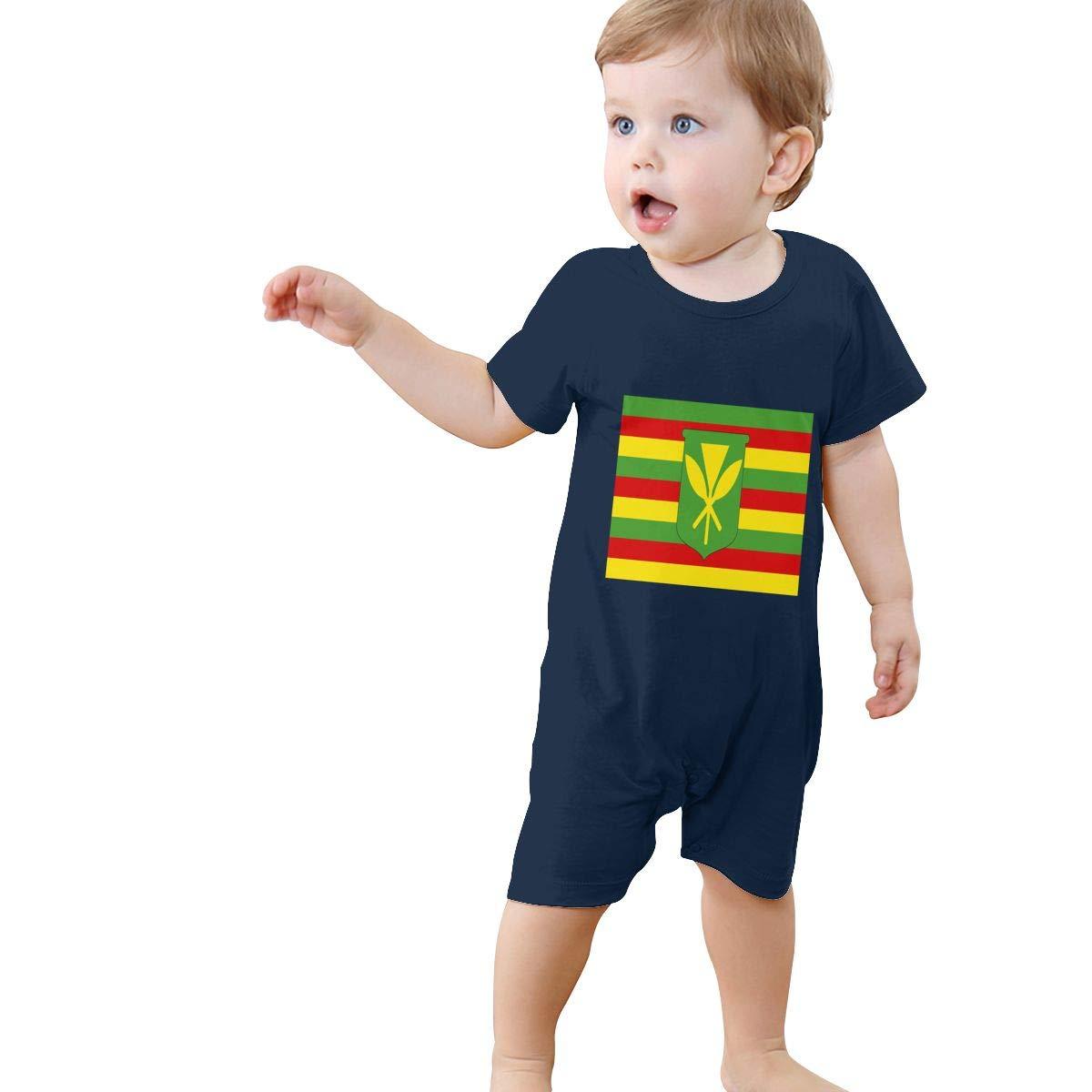 Baby Infant Toddler Bodysuits The Original Hawaii Flag Cotton Short Sleeve Jumpsuit