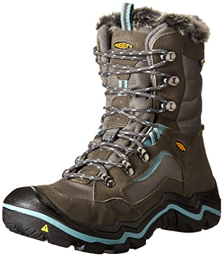 KEEN Women's Durand Polar Winter Boot, Magnet/Mineral Blue, 9 M US