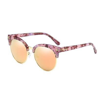 Amazon.com  LIZHIQIANG Sunglasses Women s Tide Box Round Face Sunglasses  Mirror Driving Men s Glasses Polarizer Sunshades (Color   Rose gold)  Home    ... 9e23d66f38