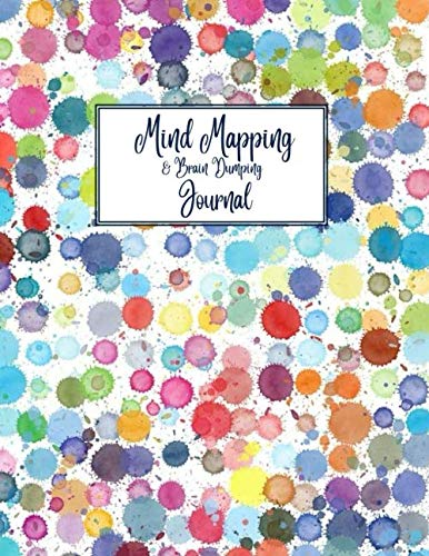 Mind Mapping & Brain Dumping Journal: Colorful Dots – Blue Pink Green Red Notebook to Brainstorm, Plan, Organize Ideas and Thoughts. Map for Creativity and Visual Thinking