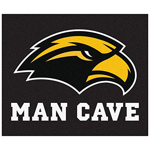 Mississippi Rug Tailgater (NCAA University of Southern Mississippi Southern Miss Golden Eagles Man Cave Tailgater Rectangular Mat Area Rug)