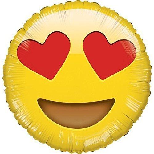 - Kaleidoscope Emoji Smiley in Love Mylar Balloon, 5 Piece