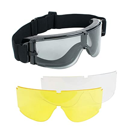 Sporting Goods Tactical Airsoft Anti Fog Goggles Eye Safety