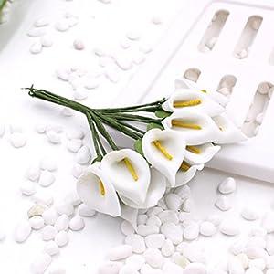 144PCS Mini Artificial Calla Lily Bouquets for Bridal Wedding Home Decoration Gift Box Wrap 46