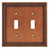 BRAINERD 135765 Ruston Double Toggle Switch Wall Plate/Switch Plate/Cover