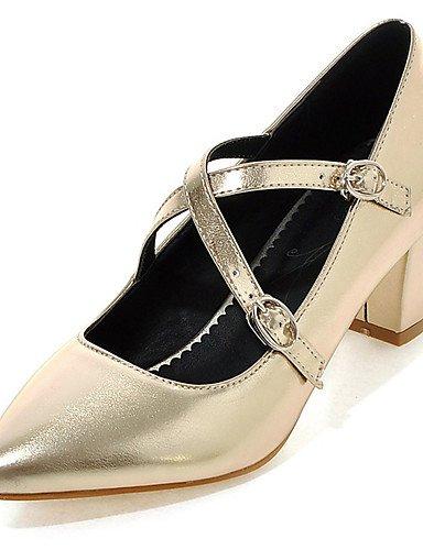 GGX/ Damen-High Heels-Kleid / Party & Festivität-Kunstleder-Blockabsatz-Absätze / Plateau / Spitzschuh-Grün / Rosa / Rot / Silber / Gold pink-us4-4.5 / eu34 / uk2-2.5 / cn33