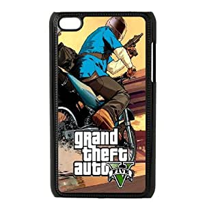 iPod Touch 4 Case Black GTA 5 Bike Chase OJ560609