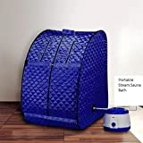 Portable Therapeutic Steam Sauna Bath Home Spa Weight Lose Blue