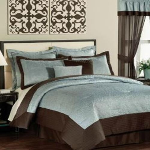 PEM America India Tile Queen 20 Piece Comforter Bed In A Bag Set