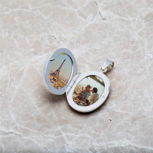 Medaillon Blumen Sterlingsilber