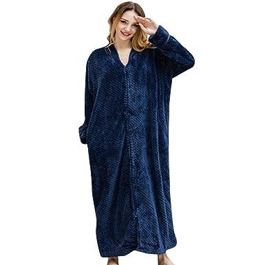 SHOBDW Albornoz Mujeres Hombres Amante Unisex Fluffy Flannel Soft Tie Toalla Delantera Traje de Baño Marcas