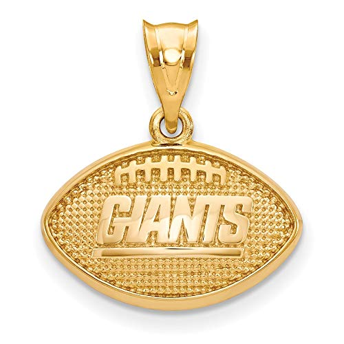 - NFL Sterling Silver Gold-plated LogoArt New York Giants Football Pendant