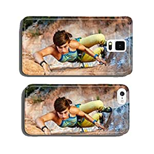 Rock climber climbing up a cliff cell phone cover case Samsung S6
