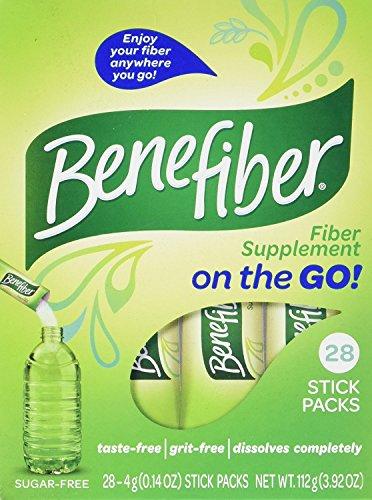 Benefiber Taste-Free, Sugar-Free Fiber Supplement Stick Packs for Digestive Health   28 Count (3 Pack)