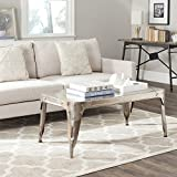 Cheap Safavieh Home Collection Classsic Dark Ant. Silver Iron Coffee Table