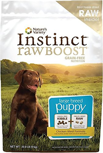 Nature's Variety Instinct Raw Boost Grain-Free Chicken Meal Large Breed Puppy Food, 20 lbs. by Nature's Variety
