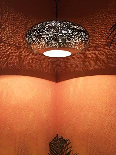 Orientalische Deckenlampe Silberfarbig Qytura Amazonde Beleuchtung