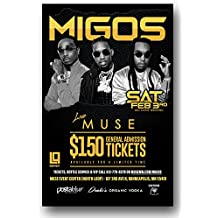 Migos Poster - Concert Promo for a show on the Culture Tour - 11 x 17 inches - Muse