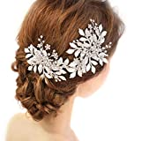 BESTOYARD Wedding Bridal Hair Accessory Diamond Leaves Bridal Headdress Beads Imitation Pearl Headband Vintage Hair Band (D2179)