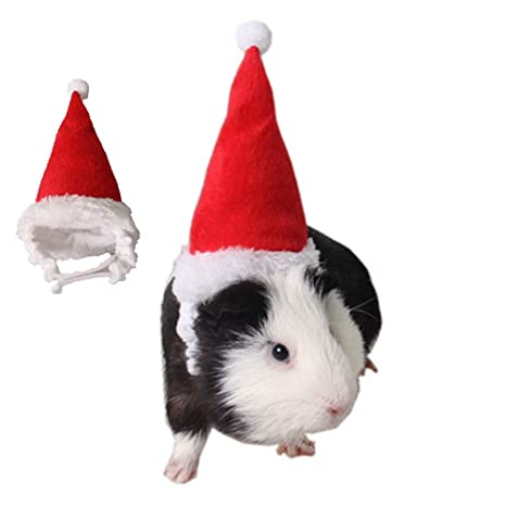 CAFFER pequeño Animal Vacaciones y Navidad Sombrero, Erizo hámster Guinea Pig Santa Sombrero Disfraz de