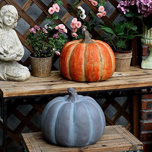庭の装飾品ハロウィーンシミュレーションパンプキン防水酸化マグネシウム庭の庭の風景芝生の装飾ギフトオレンジ-26 * 23cm