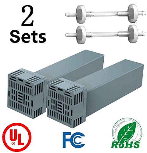 CPAP Filter Replacement Cartridge Filter Kit Compatible with So Clean 2 - Includes 2 Cartridge Filters with 2 Check Valve [2 Set]