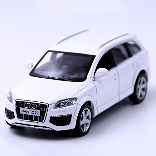 Blemay 1:36 Scale Audi Q7 SUV Model Cars Diecast Toy Vehicles (White)