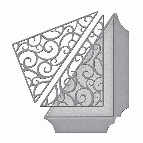 Filigree Wedding Invitation (Spellbinders S4-612 Shapeabilities Filigree Side Pocket Etched Dies)