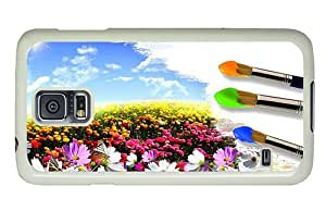 Hipster Samsung Galaxy S5 Case the best Painting Flower Field PC White for Samsung S5