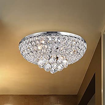 chrome crystal brizzo polished lighting lights ceiling chandelier picture round bossolo flush stores ceilings mount transitional of