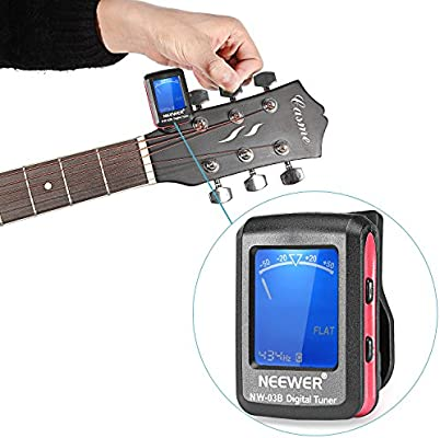 Neewer® LCD Solapa Afinador para electrónica digital de guitarra ...