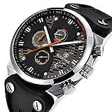BENYAR 2018 Fashion Waterproof 30M Outdoor Multifunction Sports Chronograph Wrist Watch Calendar Men's Quartz Watches (Silver Orange)
