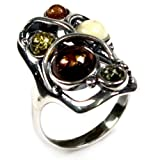 Best Ian and Valeri Friend Rings Sterling Silvers - Multicolor Amber and Sterling Silver Designer Ring Review