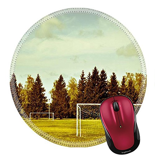 Liili Round Mouse Pad Natural Rubber Mousepad IMAGE ID: 15428223 soccer goal in the park outdoors (Soccer Goal Post Size)