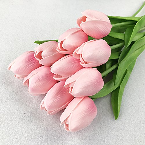 Montout-12PCSSet-PU-Stunning-Holland-Tulip-Flower-Real-Touch-Artificial-Silk-Flowers-Arrangement-Bouquet-Home-Room-Office-Wedding-Party-Decor-Pink