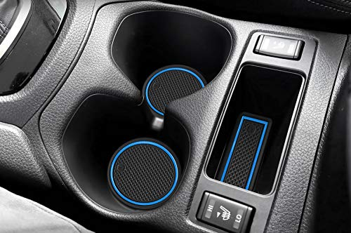 Auovo Anti Dust Mats for Nissan Rogue 2019 2018 2017.5 2017 2016 2015 2014 Custom Fit Door Compartment Liners Cup Holder Console Liners Interior Accessories(19pcs/Set) (Blue)